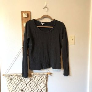 Standard James Perse Gray Raglan Pullover Top
